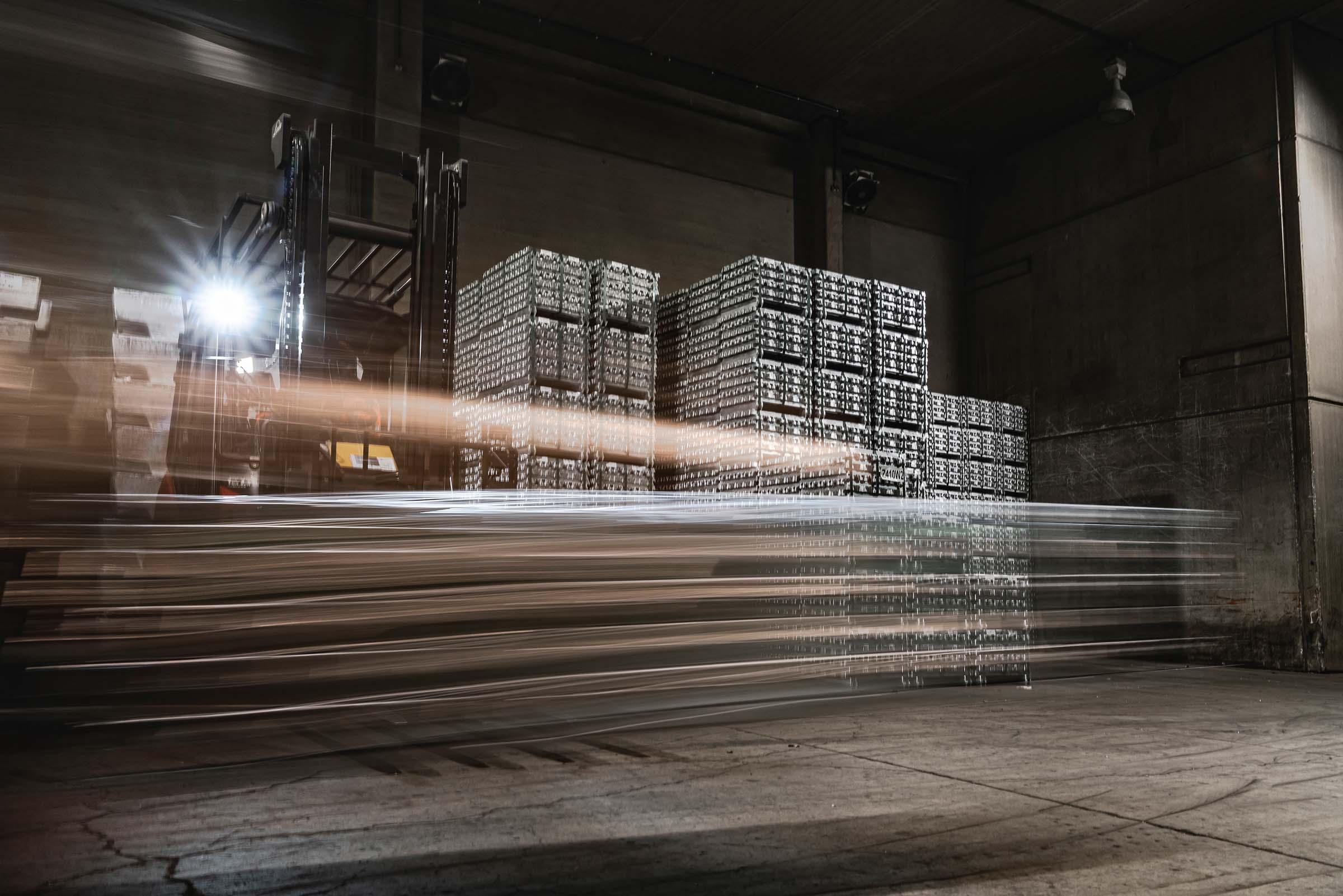 Zinc alloys ingots at REAZN Belgium
